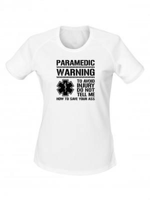 Dámské funkční tričko PARAMEDIC WARNING