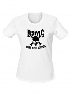 Dámské funkční tričko USMC Death Before Dishonor