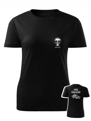 Dámské tričko 102. průzkumný prapor - LRD-130 Kajman