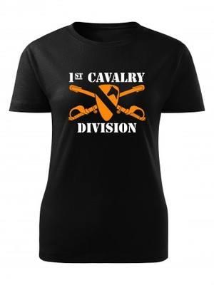 Dámské tričko 1st Cavalry Division Sabres and Horse