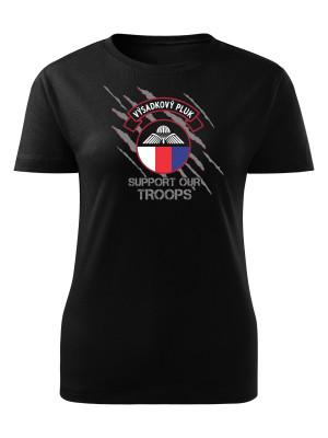 Dámské tričko 43. výsadkový pluk