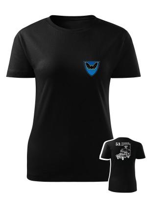 Dámské tričko 53. pluk průzkumu a elektronického boje - DEFENDER