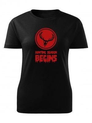 Dámské tričko DEER Hunting Season Begins