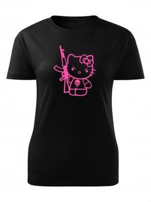 Dámské tričko Hello Kitty Punisher Kalashnikov