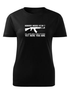 Dámské tričko Nobody needs SA58?