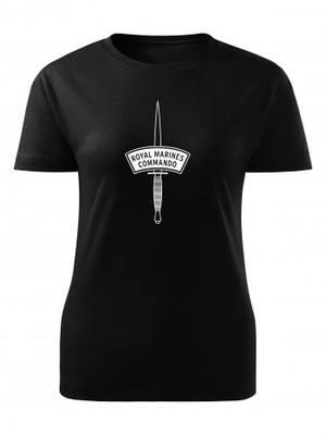 Dámské tričko ROYAL MARINES COMMANDO dagger