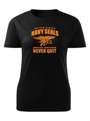 Dámské tričko United States NAVY SEALS Never Quit