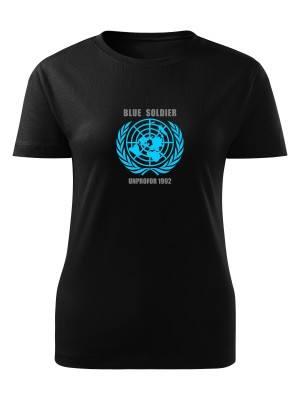 Dámské tričko UNPROFOR - BLUE SOLDIER 1992
