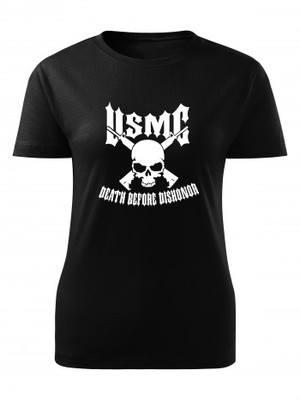 Dámské tričko USMC Death Before Dishonor