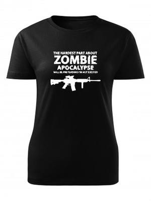Dámské tričko Zombie Apocalypse M4 Carbine