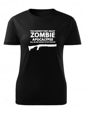 Dámské tričko Zombie Apocalypse Shotgun Remington