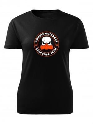 Dámské tričko Zombie Outbreak Response Team Gas Masked Skull