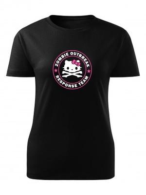 Dámské tričko Zombie Outbreak Response Team Hello Zombie
