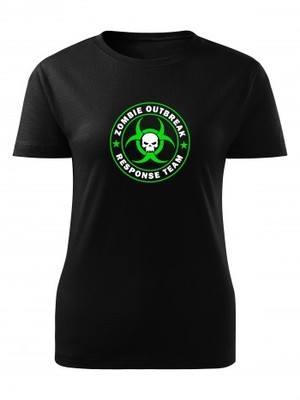 Dámské tričko Zombie Outbreak Response Team Skull