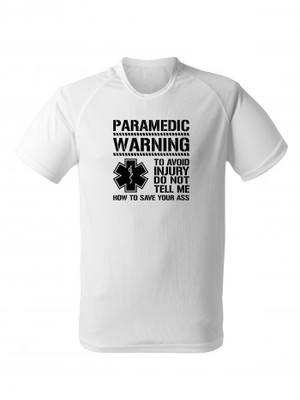 Funkční tričko PARAMEDIC WARNING