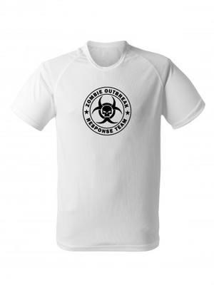 Funkční tričko Zombie Outbreak Response Team Skull