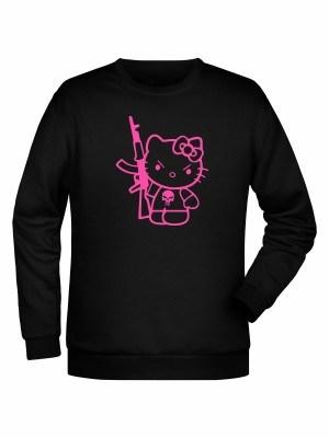 Mikina Hello Kitty Punisher Kalashnikov