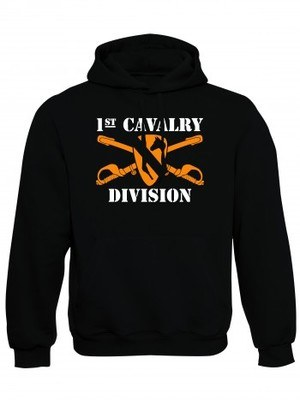 Mikina s kapucí 1st Cavalry Division Sabres and Horse