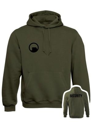 Mikina s kapucí Black Mesa SECURITY Force - olivová, XL