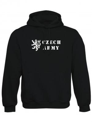 Mikina s kapucí Czech Army Lion
