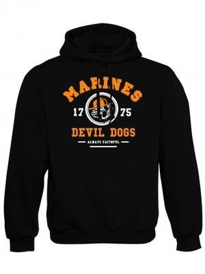 Mikina s kapucí Marines Devil Dogs