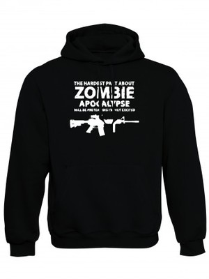 Mikina s kapucí Zombie Apocalypse M4 Carbine