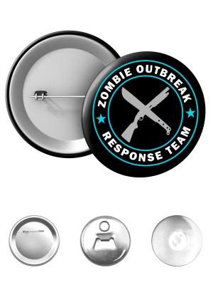 Odznak Zombie Outbreak Response Team Machete and Shotgun