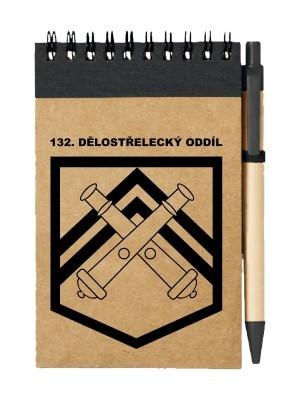 Poznámkový blok 132. dělostřelecký oddíl