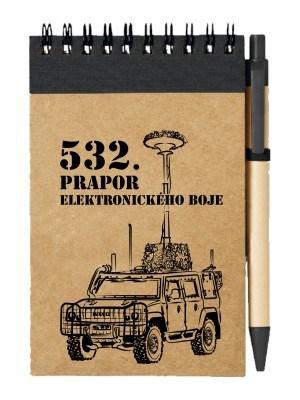Poznámkový blok 532. prapor elektronického boje - IVECO