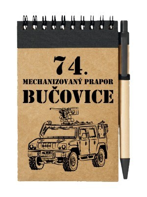 Poznámkový blok 74. mechanizovaný prapor IVECO