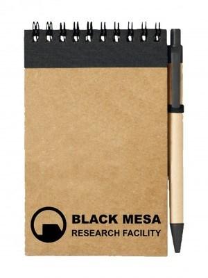 Poznámkový blok Black Mesa Research Facility Line