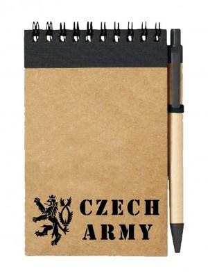 Poznámkový blok Czech Army Lion