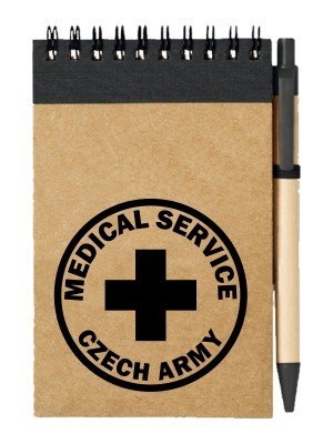 Poznámkový blok CZECH ARMY MEDICAL SERVICE