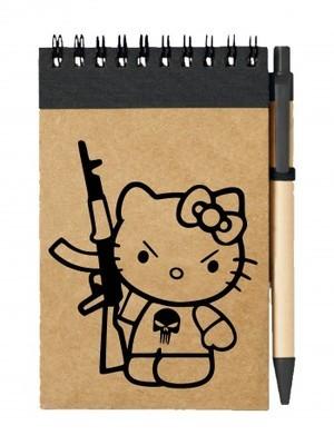 Poznámkový blok Hello Kitty Punisher Kalashnikov