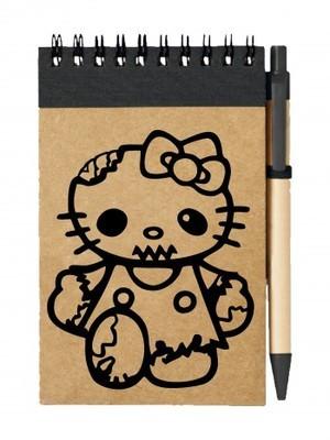 Poznámkový blok Hello Kitty Zombie