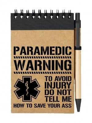 Poznámkový blok PARAMEDIC WARNING