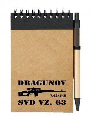 Poznámkový blok SVD Dragunov