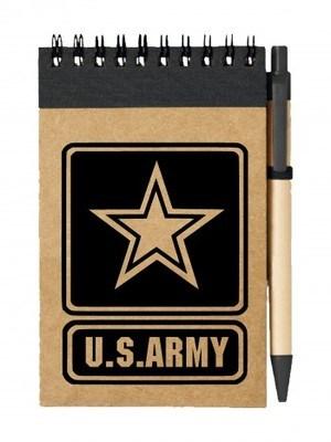 Poznámkový blok U.S. ARMY Logo