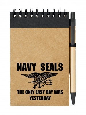 Poznámkový blok United States NAVY SEALS The Only Easy Day Was Yesterday