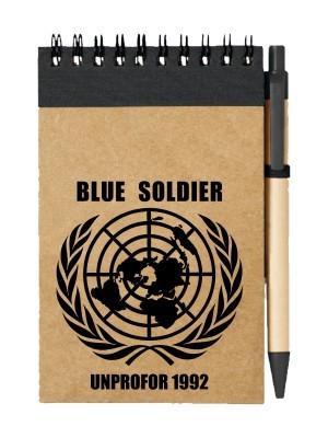 Poznámkový blok UNPROFOR - BLUE SOLDIER 1992