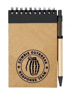 Poznámkový blok Zombie Outbreak Response Team Hand Grenade