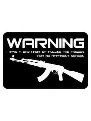 Samolepka BAD HABIT AK-47