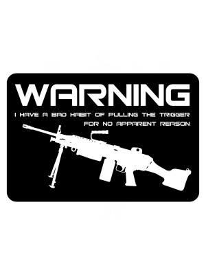 Samolepka BAD HABIT M249