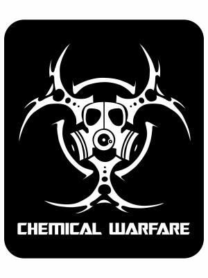 Samolepka Biohazard Chemical Warfare