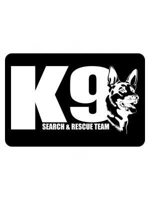 Samolepka K9 Search and Rescue team