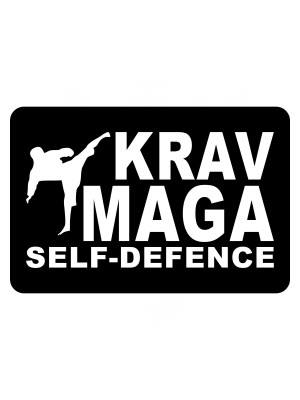 Samolepka Krav Maga - self defence fighter