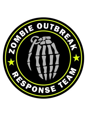 Samolepka Zombie Outbreak Response Team Hand Grenade