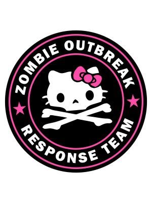 Samolepka Zombie Outbreak Response Team Hello Zombie