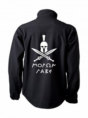 Softshell bunda Molon Labe Swords BACKSIDE