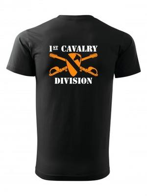 Tričko 1st Cavalry Division Sabres and Horse BACKSIDE